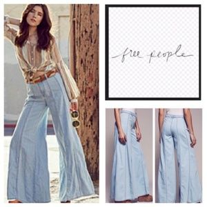 Free People Gilmore Wide Leg Flared Jeans